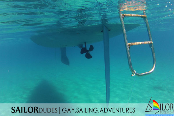 Gay sailing yacht hull
