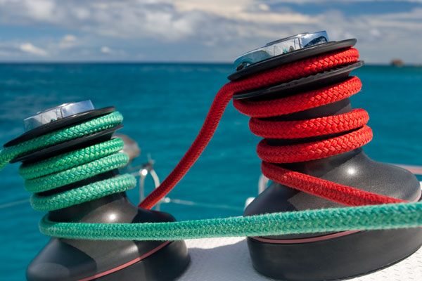 Sailing cruises winches