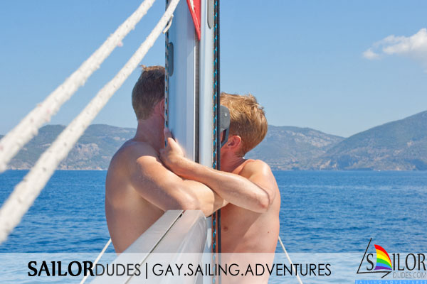 Gay sailing cruises sailor guys kissing