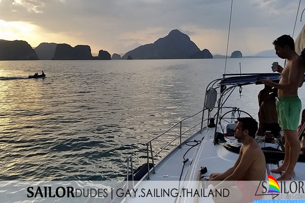 Gay sailing cruise Thailand - sunset