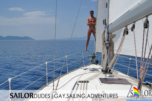 Gay nude sailing cruises with naked gay skipper on sailing yacht. Naked swimming. Gay naturist sailing. Gay naked dish washing. Gay active sailing holidays. Gay nude travelling. Gay nude skipper.