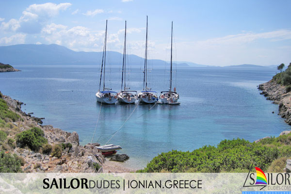 Gay sailing cruise Greece Ionian