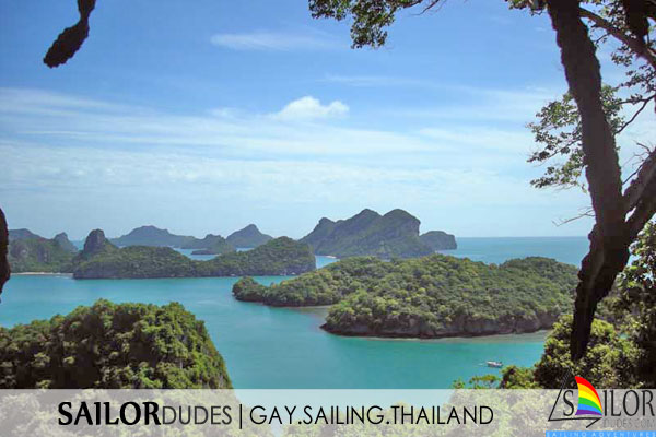 Gay sailing vacation Thailand - view