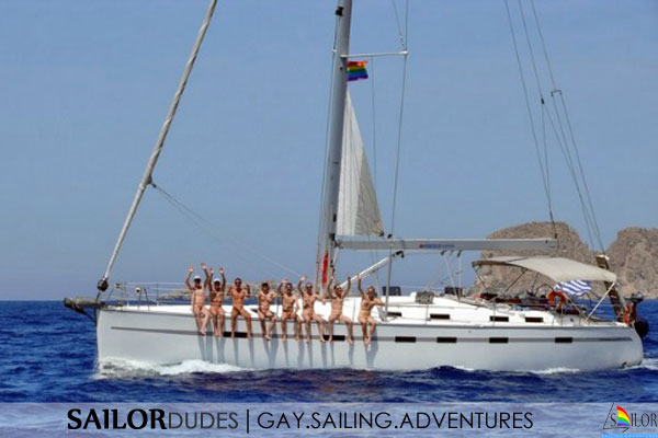 Gay nude sailing