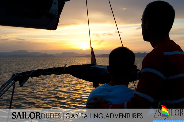 Gay sailing program sunset
