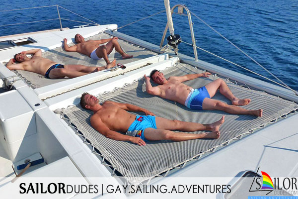 Gay sailing program relax catamaran