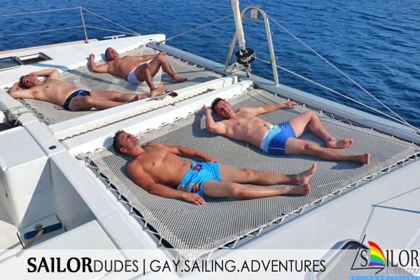 Gay sailing program relax catamaran