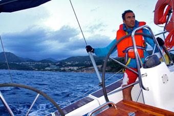 Gay sailing skipper