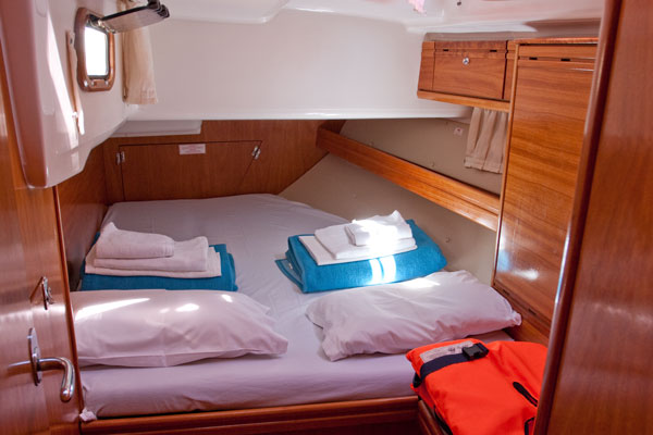 Gay sailing yacht double bed