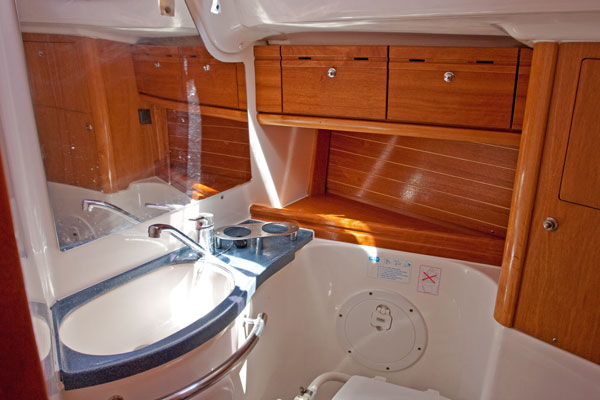 Sailing yacht wash basin/toilet