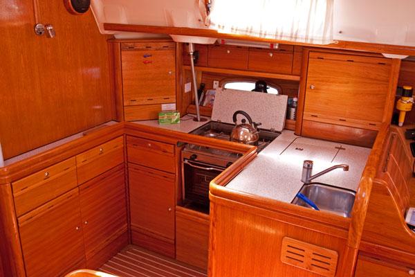 Gay sailing yacht kitchen