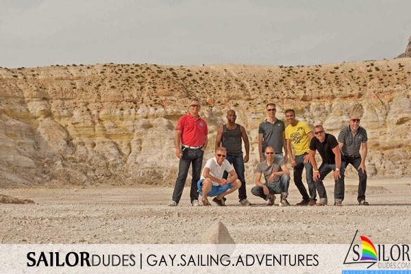 Gay sailing Greece - vulcano crater