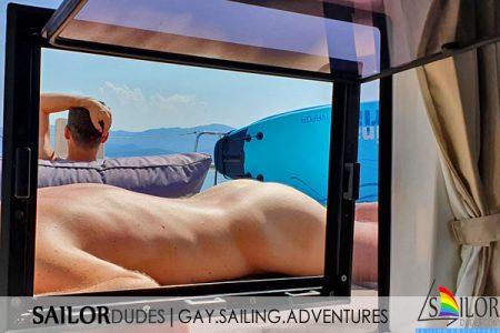 Gay sailing nude sunbathing