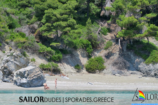 Gay nudist sailing cruise Greece Sporades