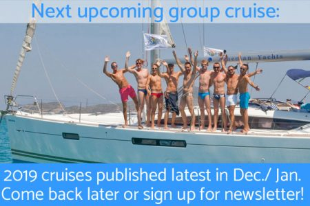 Upcoming gay sailing group cruises