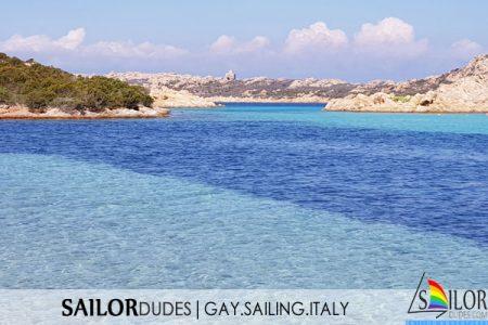 Gay sailing Italy Sardinia Budelli