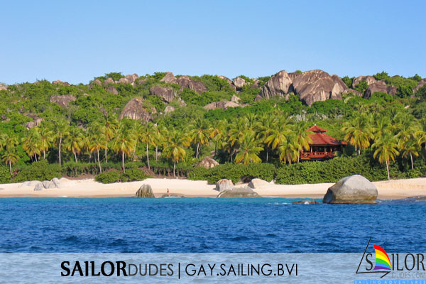 Gay sailing bvi - white beach