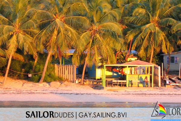 Gay sailing bvi - sunset beach