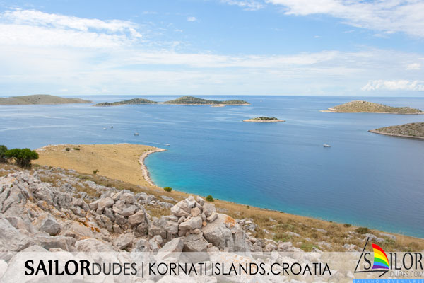 Gay Sailing cruises Croatia - Kornati islands aerial