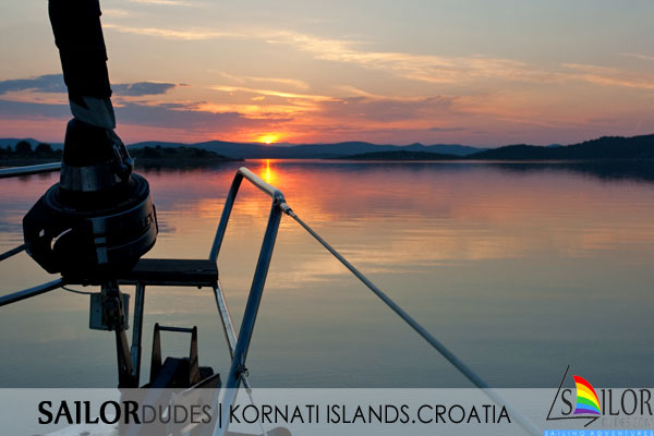 Gay Sailing cruises Croatia - Kornati islands sunset