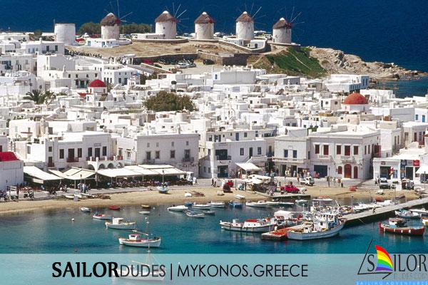 Gay sailing Greece Mykonos