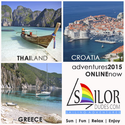 Gay Sailing cruises 2015