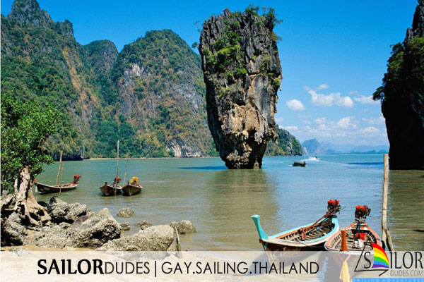 Gay sailing holiday Thailand - james bond island