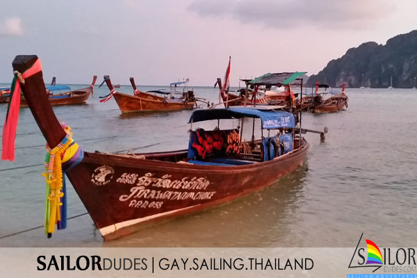 Gay sailing Thailand - longtail boats
