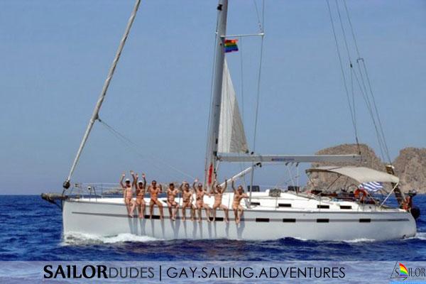 Gay nude sailing