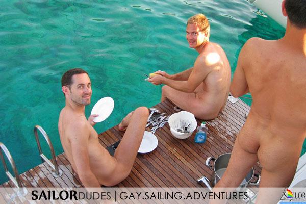Gay sailing participation naked dishes