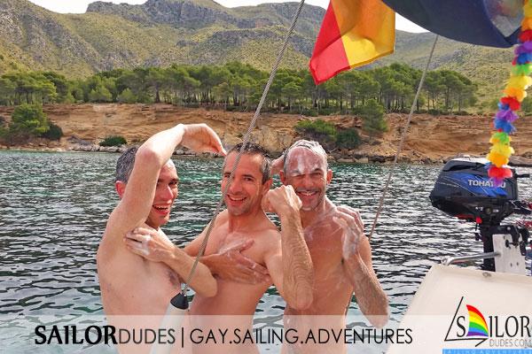 Gay naturist sailing program shower