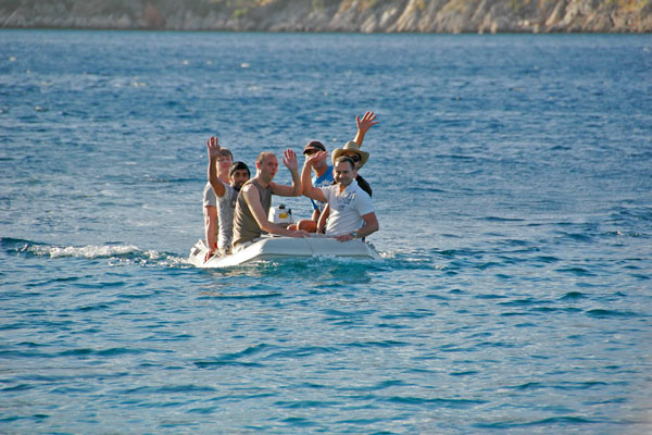 Gay sailing group Kos dinghy
