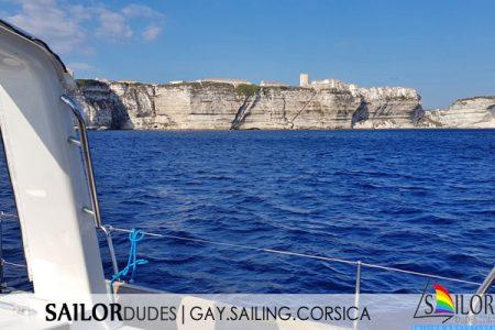 Gay sailing France Corsica Bonifacio