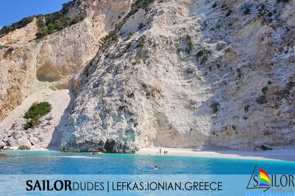 Blue water bay Greece
