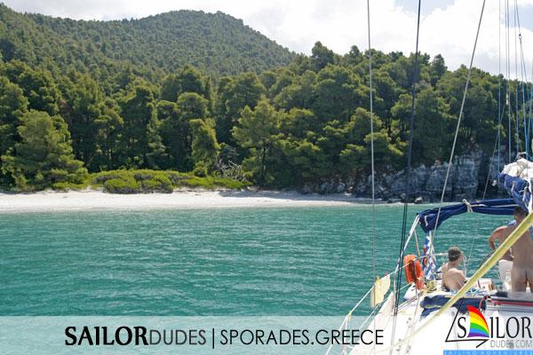 Gay sailing Greece Sporades Skiathos