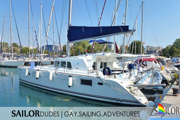 gay sailing catamaran yacht