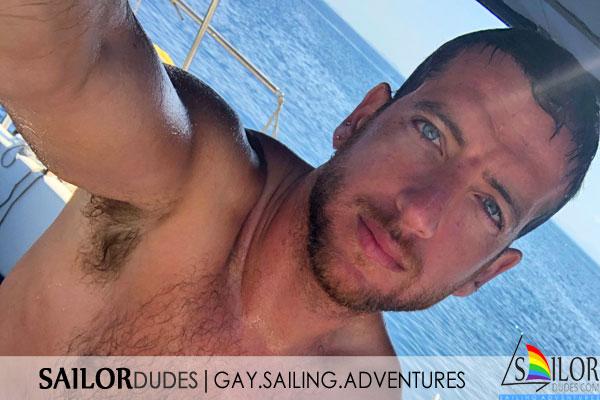 Gay skipper sailing